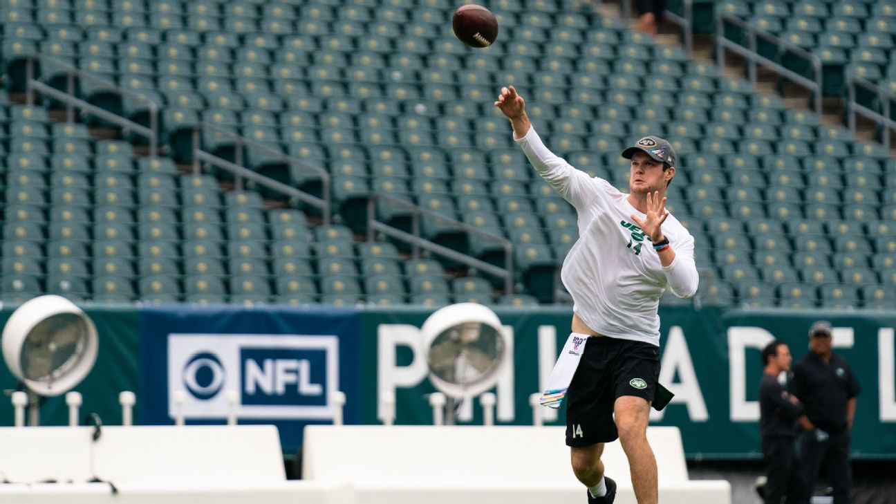 Jets QB Sam Darnold says he's not worried about getting hit in return from mono