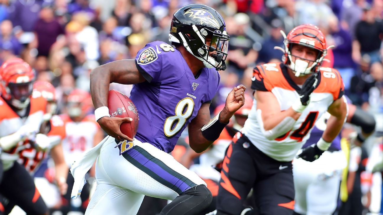 Fast track to history: Lamar Jackson on historic rushing pace -- if he can hold up