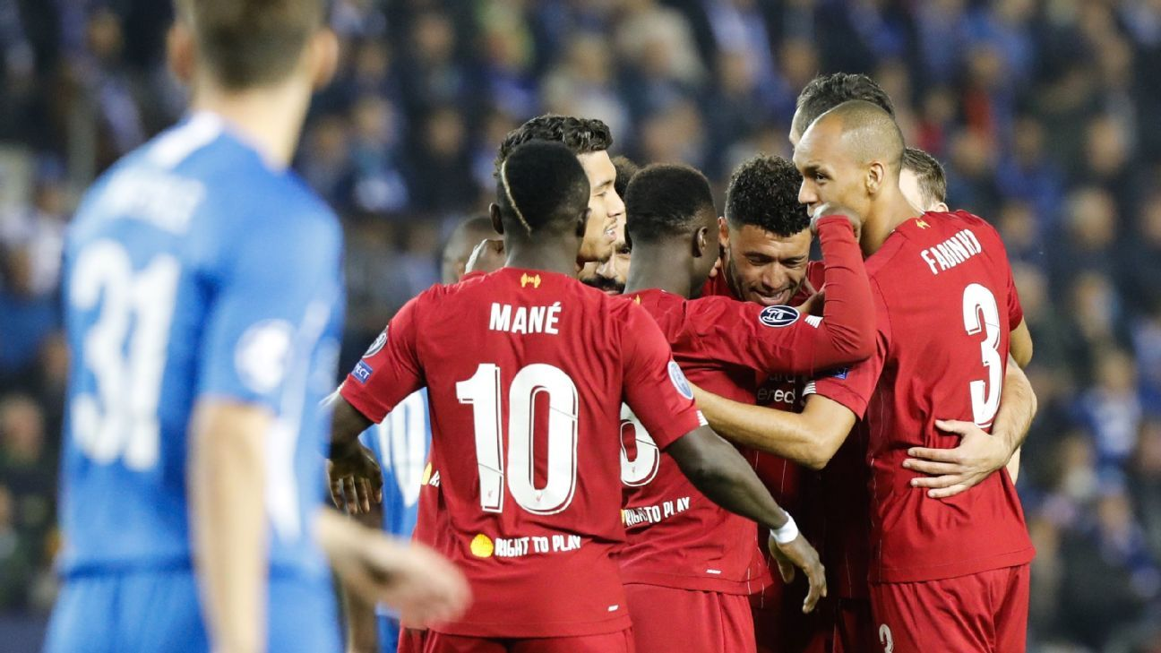 Liverpool cruise past Racing Genk with Alex Oxlade-Chamberlain brace