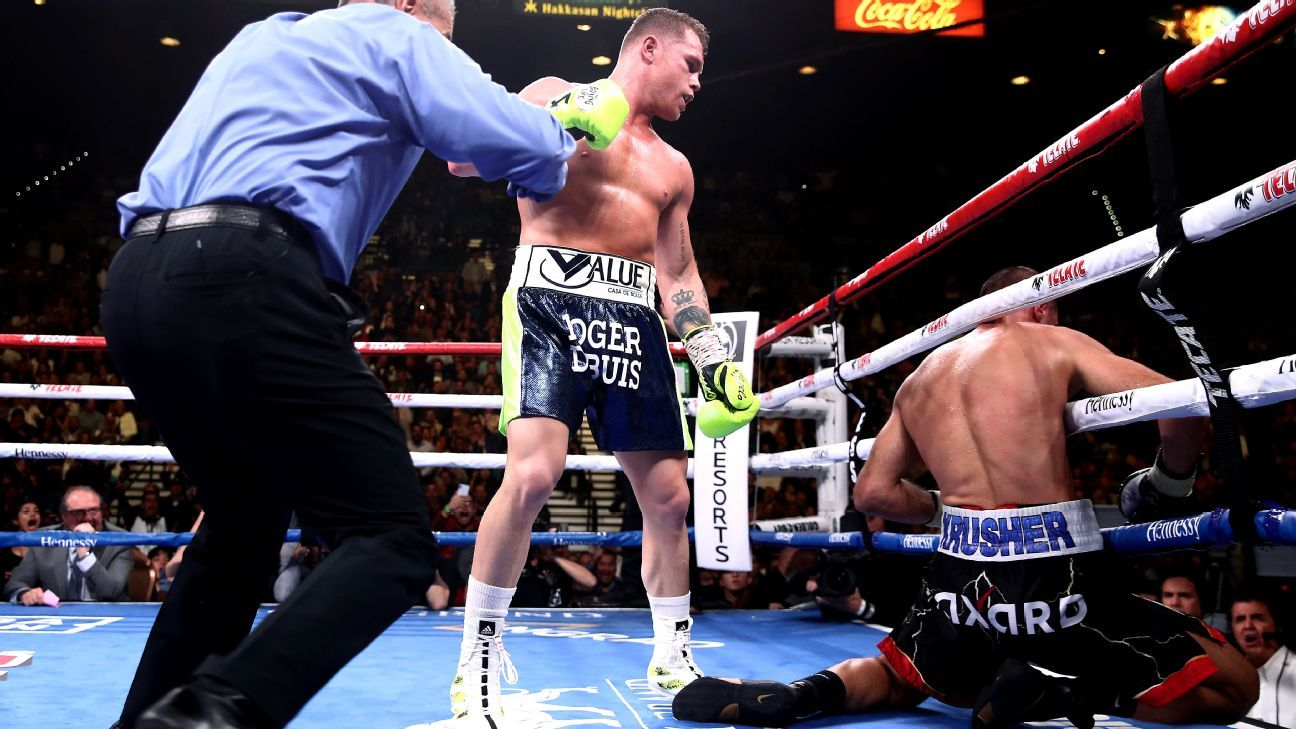 Canelo stops Kovalev in 11th to win historic title
