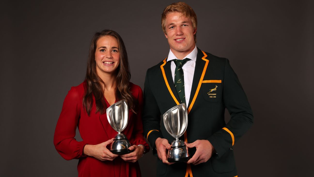 Pieter-Steph du Toit named World Rugby Player of the Year