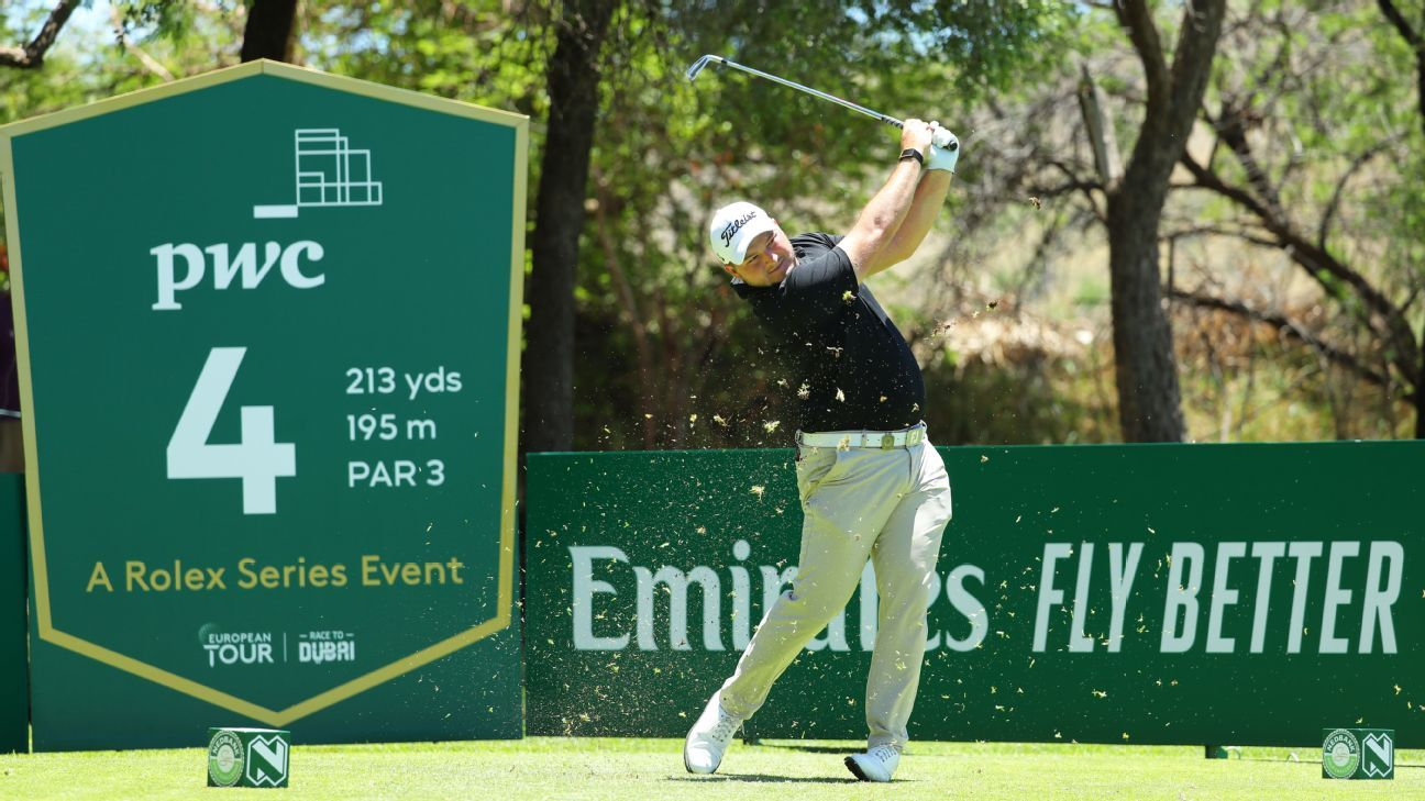 Zander Lombard shines to grab second-round lead at Nedbank Challenge