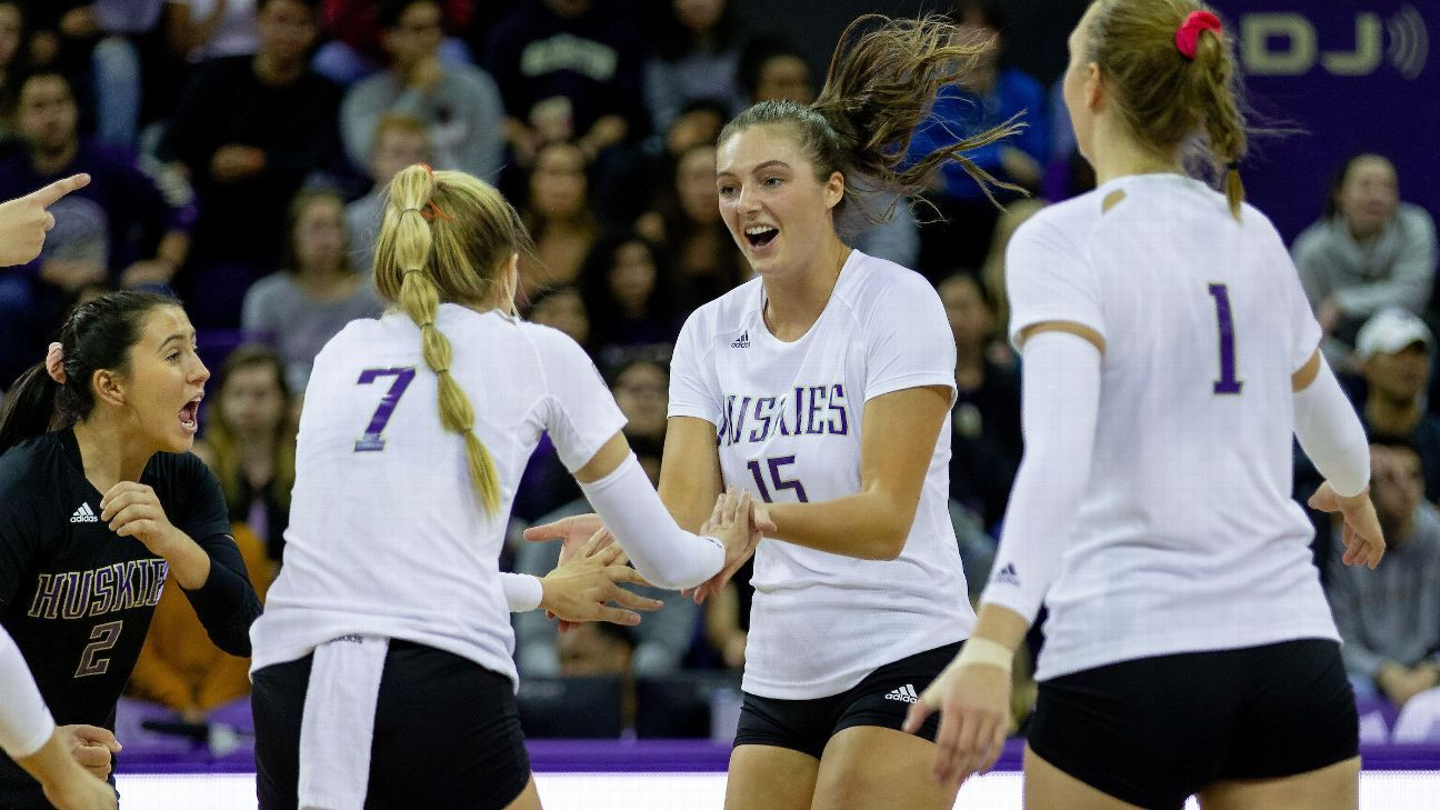How a bag of laundry helped give Washington volleyball its 1-2 punch