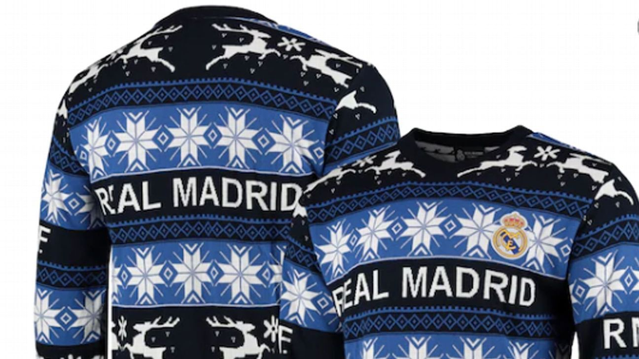 Man United, Real Madrid and other top festive football jumpers