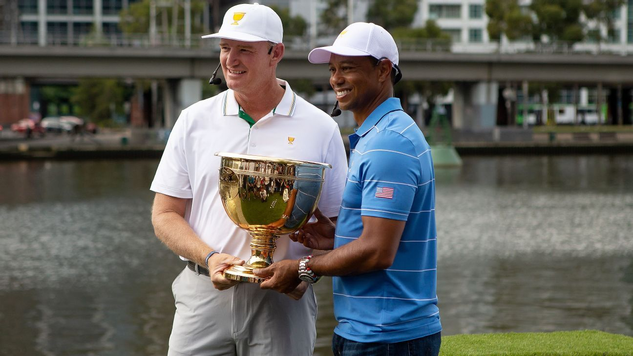 Ernie Els reflects on rivalry with Tiger Woods, elusive Presidents Cup