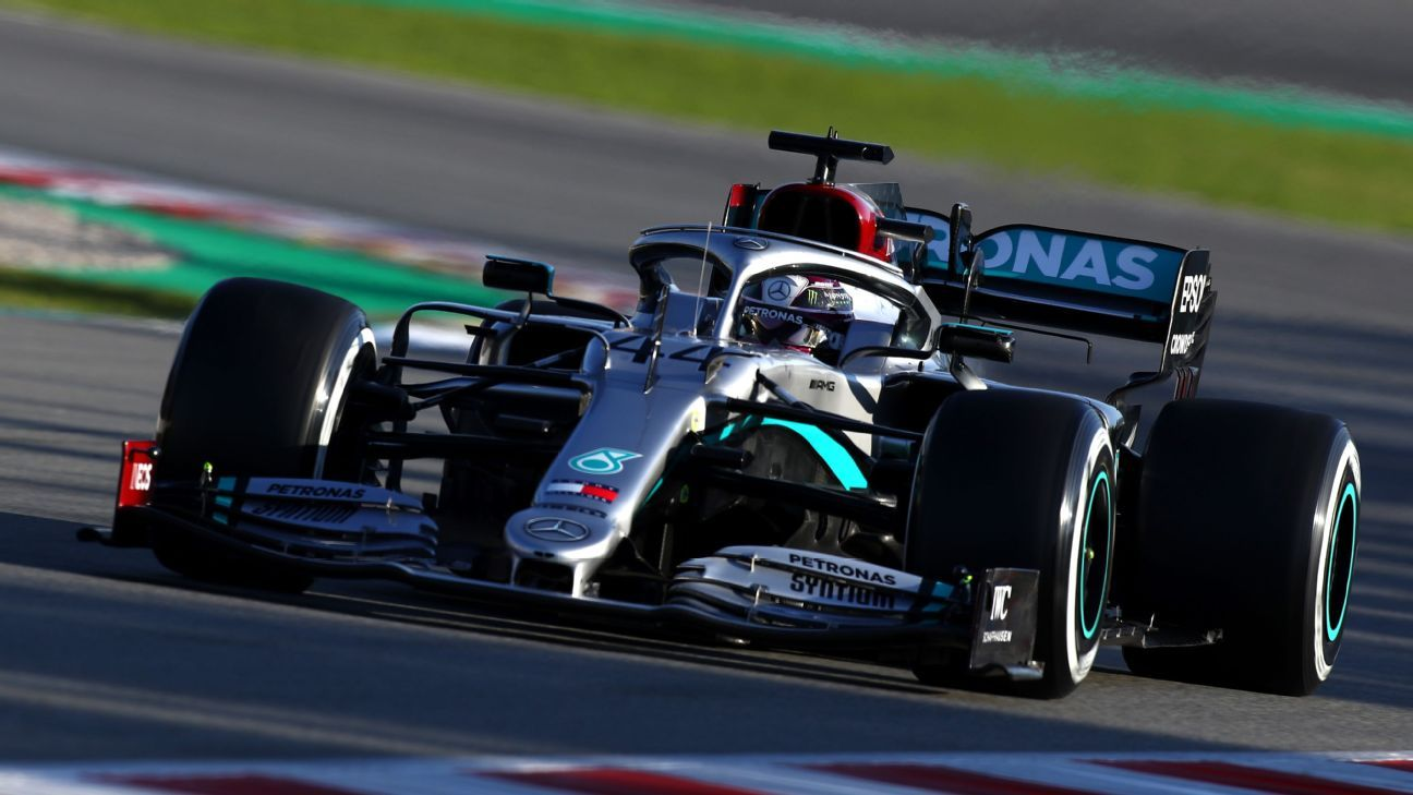 Hamilton leads Mercedes one-two in opening preseason test