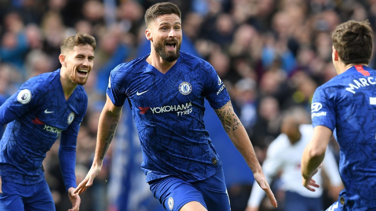 Olivier Giroud, Frank Lampard both earn 9/10 for Chelsea's derby ...