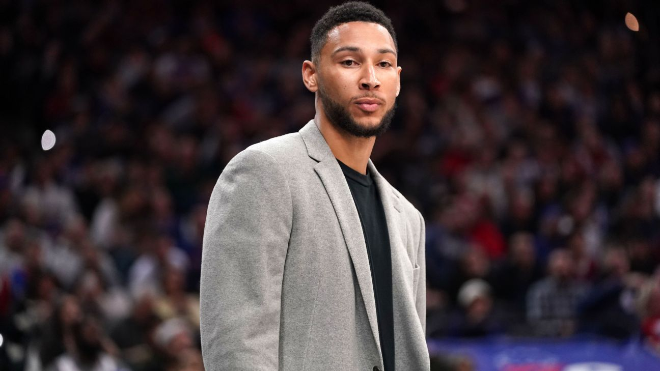 Sources: 76ers' Simmons out for indefinite period