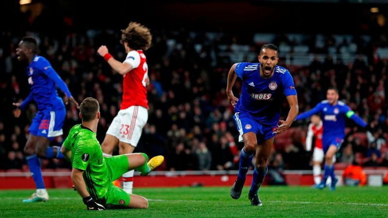Arsenal Vs Olympiakos Football Match Report February