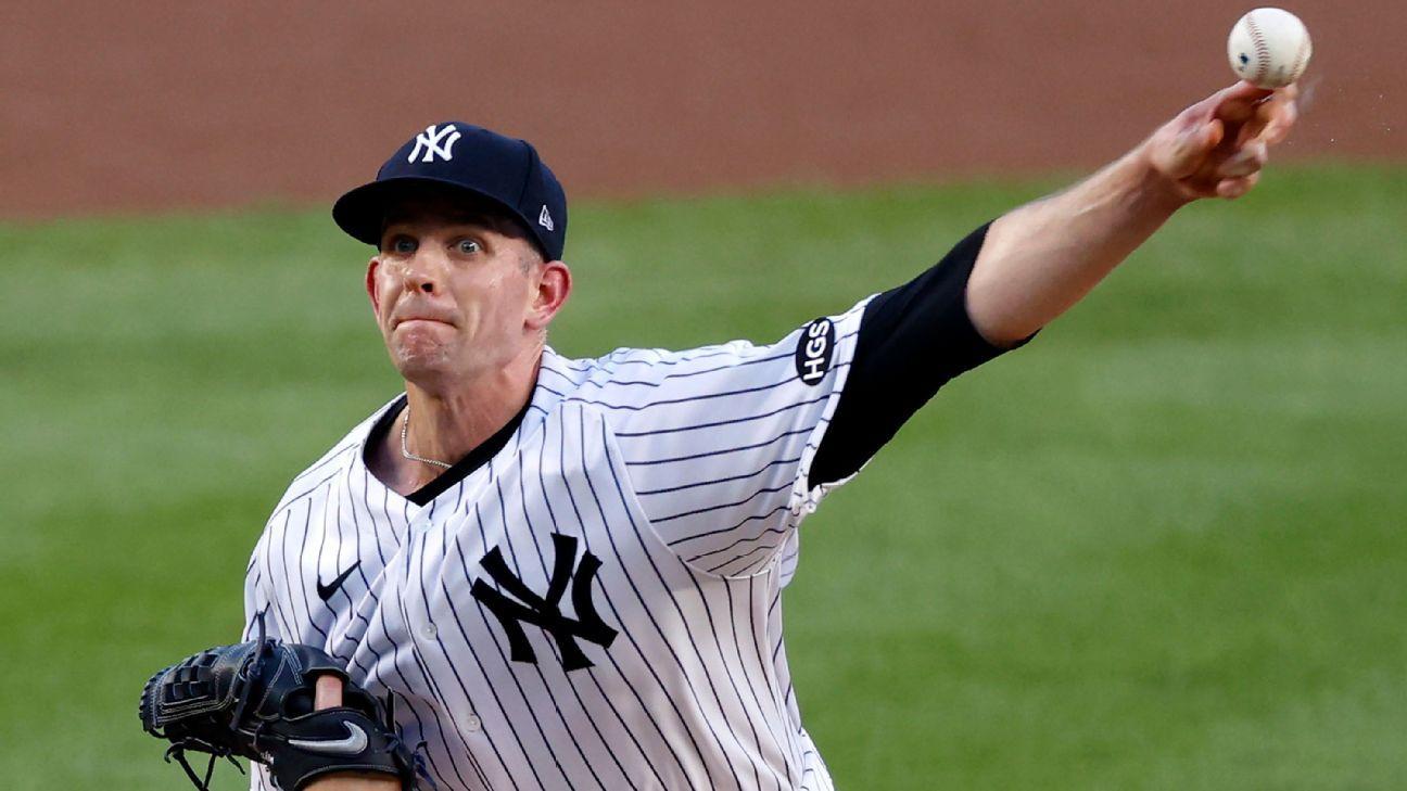 Yankees' James Paxton has setback in return from left flexor strain – ESPN