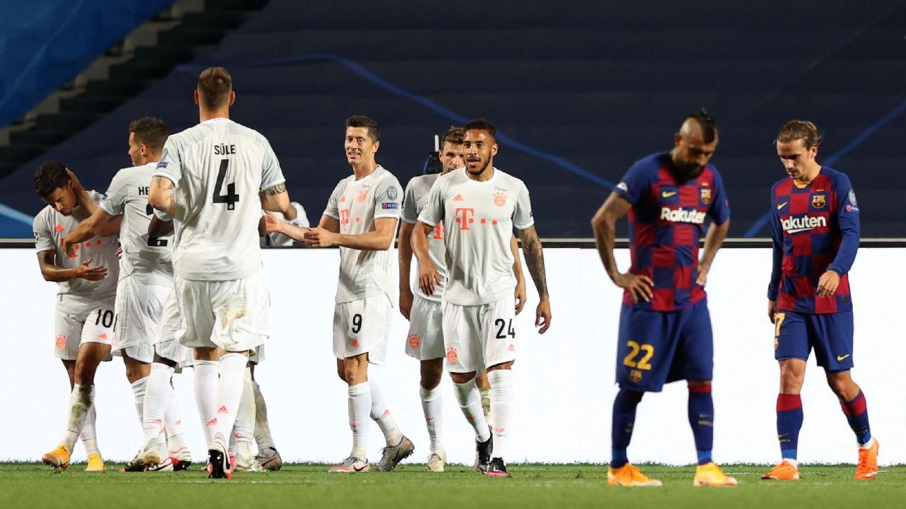 Barcelona Vs Bayern Munich Football Match Report August 14 2020 Espn