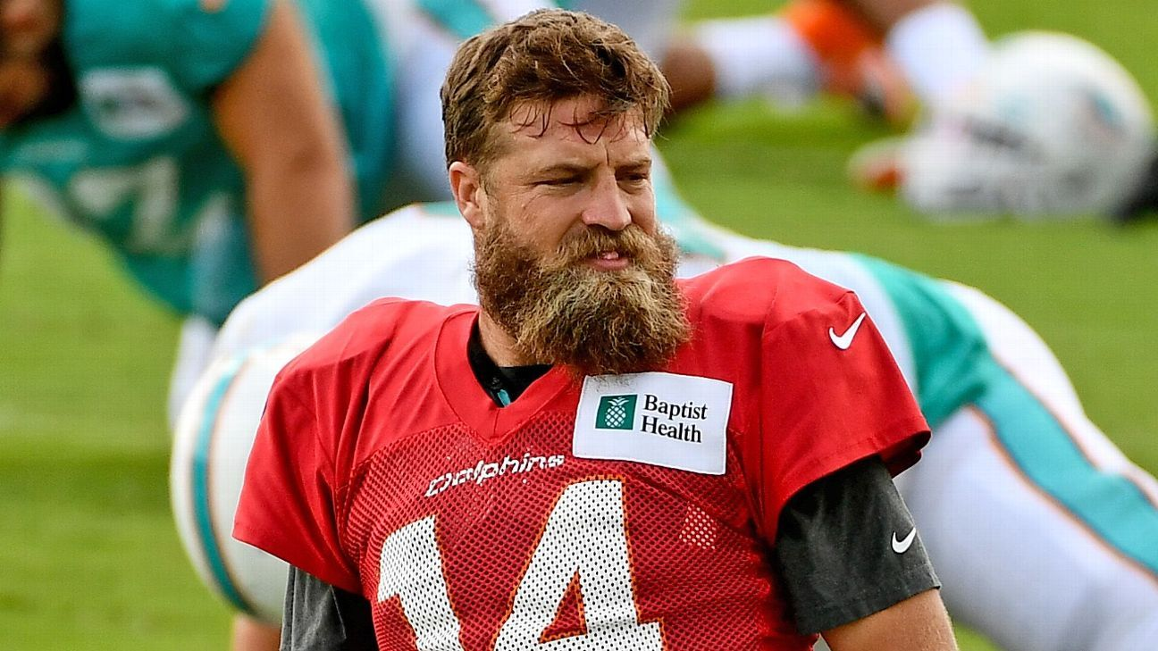 NFL training camp 2020 – No-look FitzMagic catch competitions and dogs at practice – ESPN