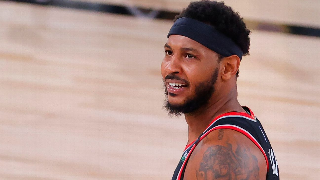 Carmelo Anthony expects to be 'back in the fray of things' next season hopefully with Trail Blazers – ESPN