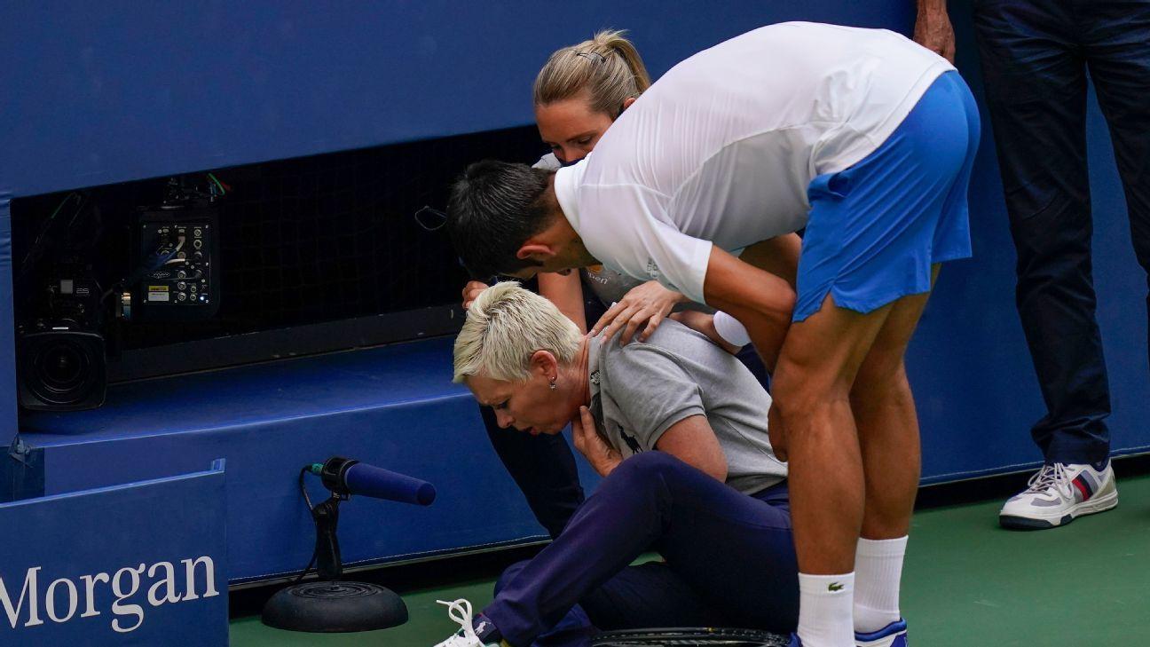 Novak Djokovic's image takes another hit after US Open default – ESPN
