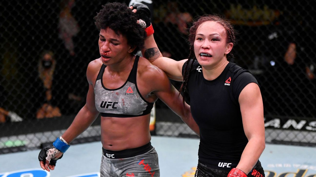 Michelle Waterson guts out win over Angela Hill at UFC Fight Night – ESPN