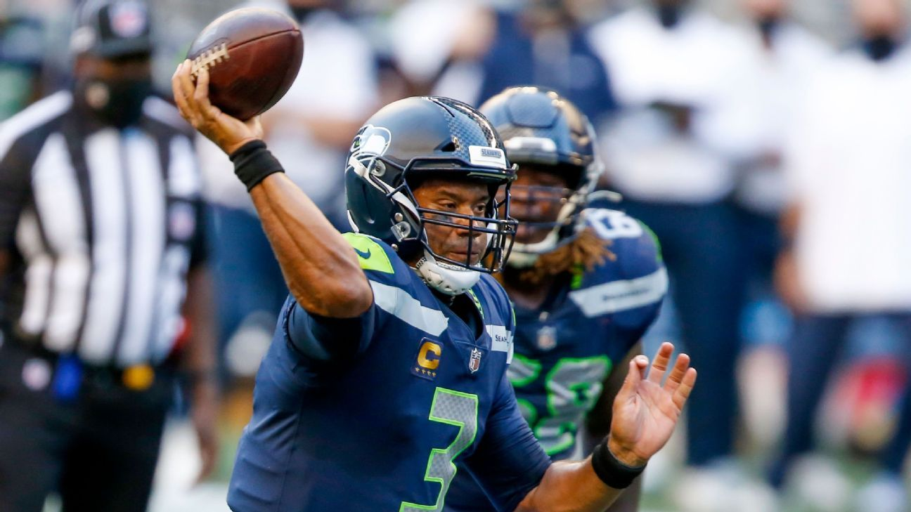 Seahawks' Russell Wilson, DK Metcalf connect on 54-yard TD to tie game