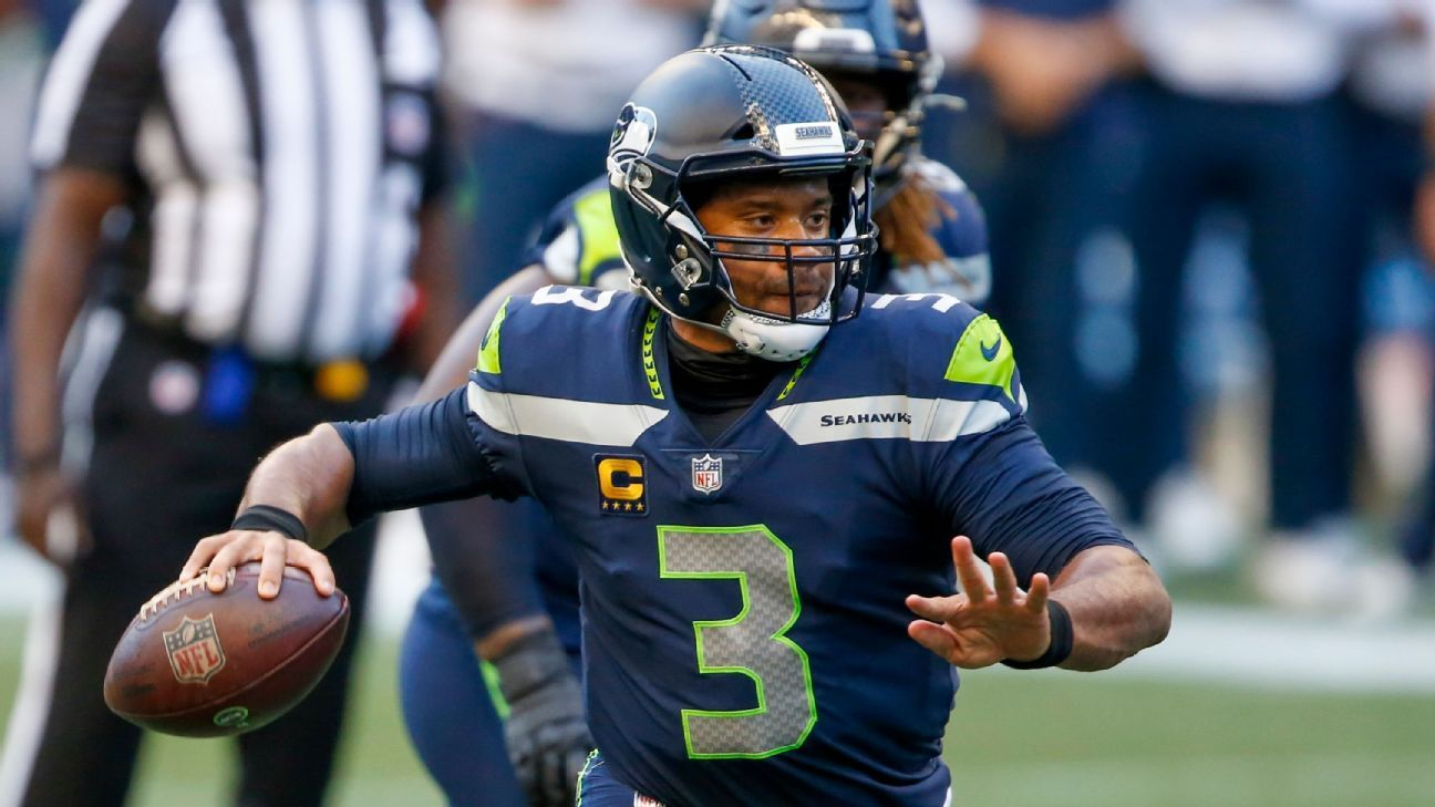 Red-hot Wilson tosses five TDs in Seahawks' win