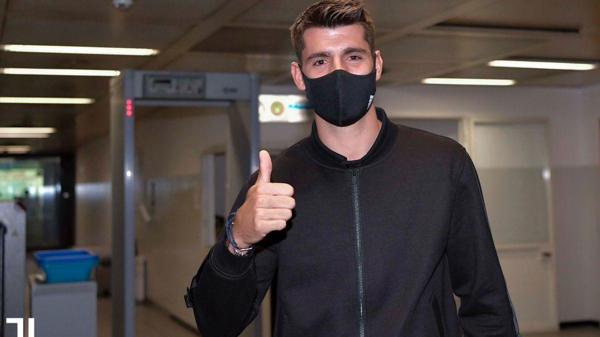 Álvaro Morata ya está en Turín para formalizar su fichaje con la Juventus