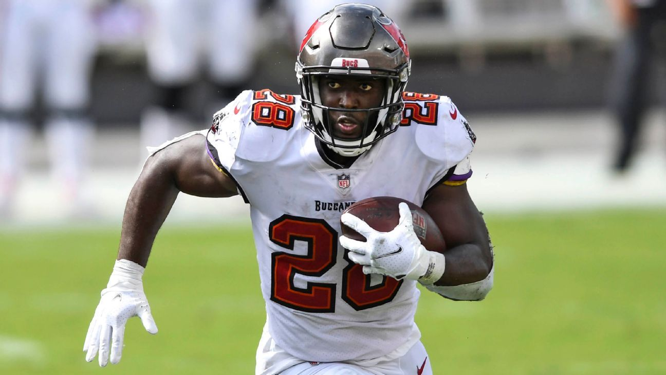 Tampa Bay Buccaneers to start RB Leonard Fournette vs. New Orleans Saints – ESPN