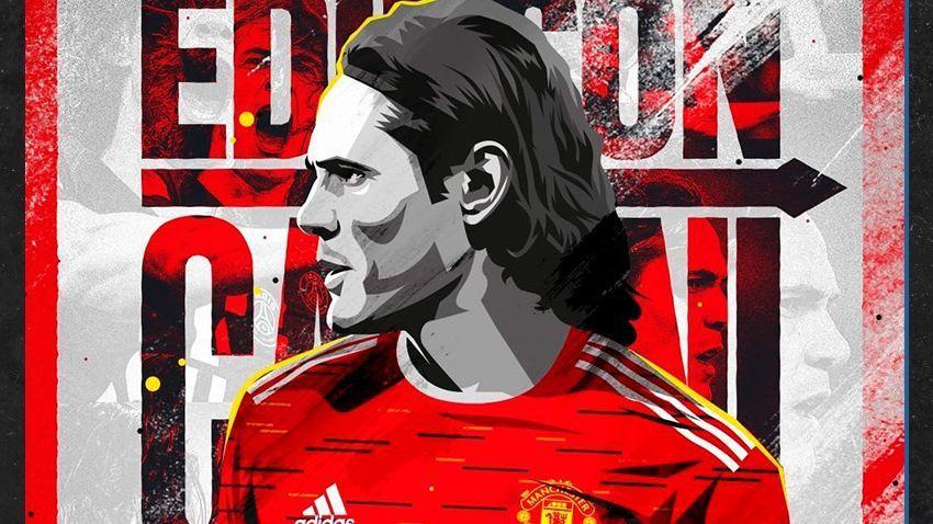 Edinson Cavani, en su presentación con Manchester United: