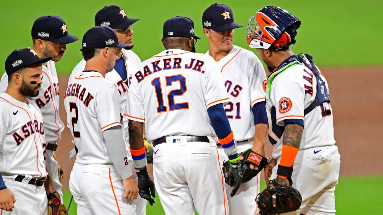 Houston Astros' Zack Greinke on Dusty Baker leaving him in ALCS Game 4 – 'It was nice having someone have confidence in me' – ESPN