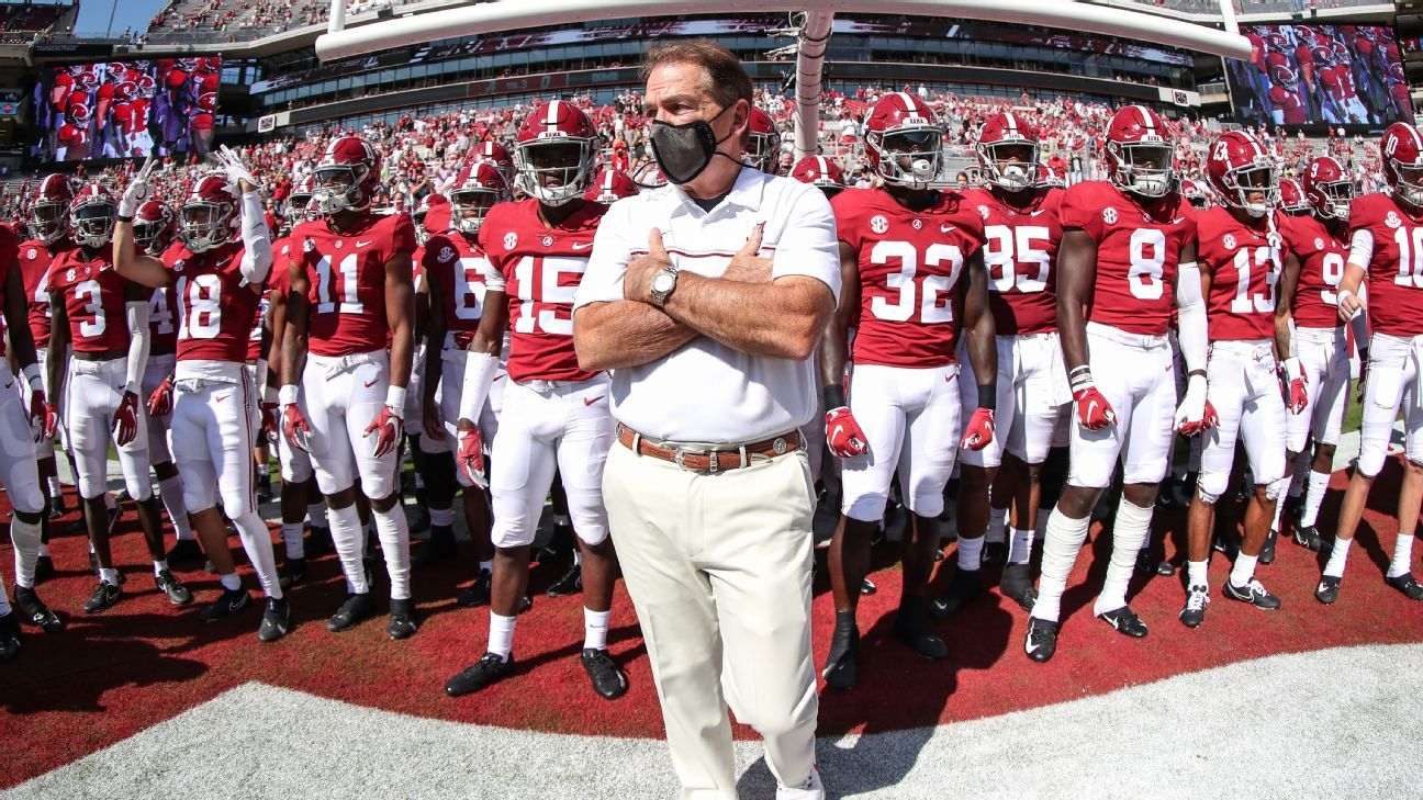 Alabama football coach Nick Saban cleared to return immediately after third negative COVID-19 test – ESPN