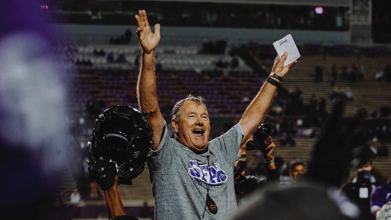 After COVID-19 diagnosis, Stephen F. Austin coach asks dad to ditch farm for football field