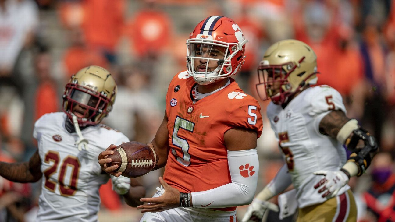D.J. Uiagalelei and Clemson soar, Jim Harbaugh and Michigan stumble, plus more from Week 9 - ESPN