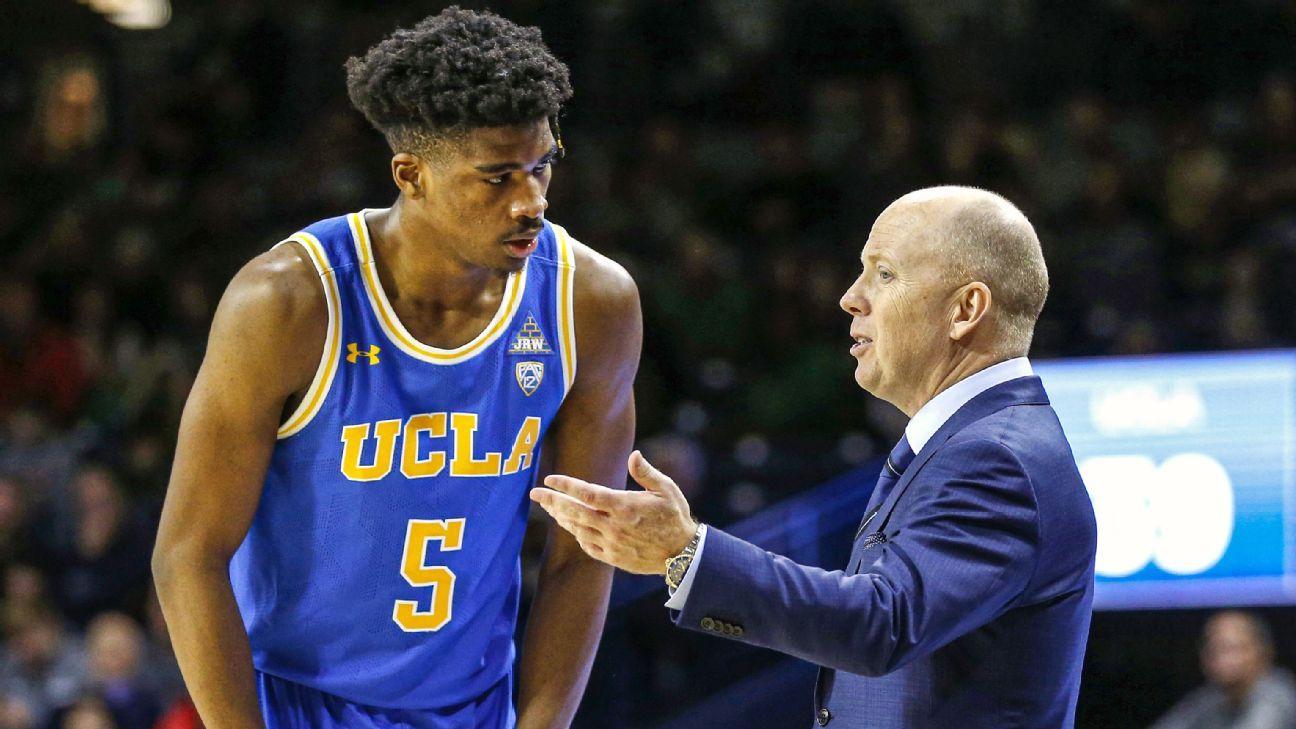 UCLA Bruins men's basketball senior Chris Smith out for ...