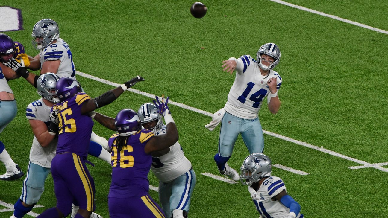 Dallas Cowboys back in NFC East chase after snapping 4-game skid vs. Minnesota Vikings - ESPN