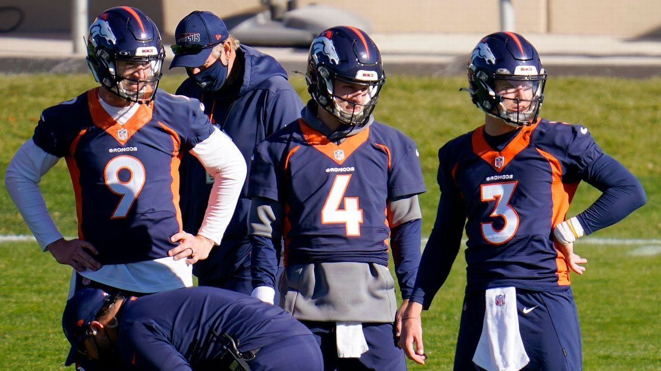Sources -- Denver Broncos QBs ruled ineligible vs. New Orleans Saints
