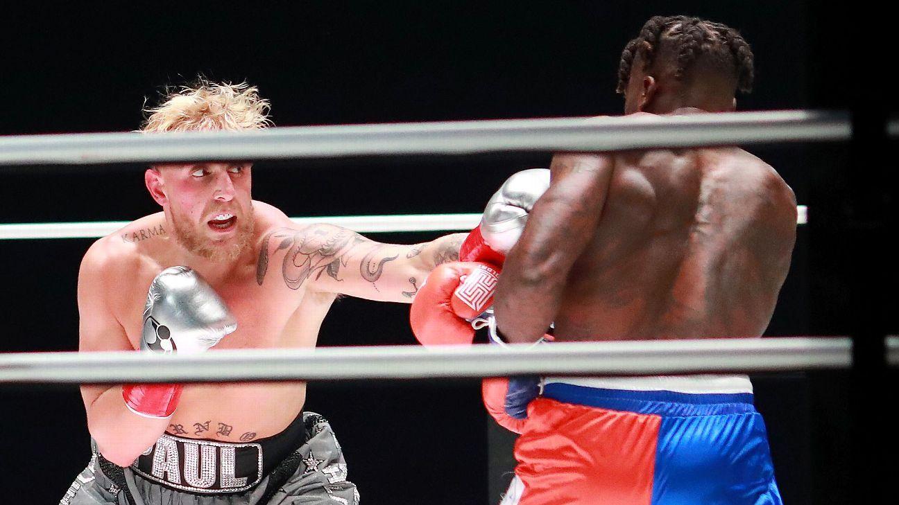 Jake Paul demolishes Nate Robinson on Mike Tyson-Roy Jones Jr. undercard - ESPN Australia