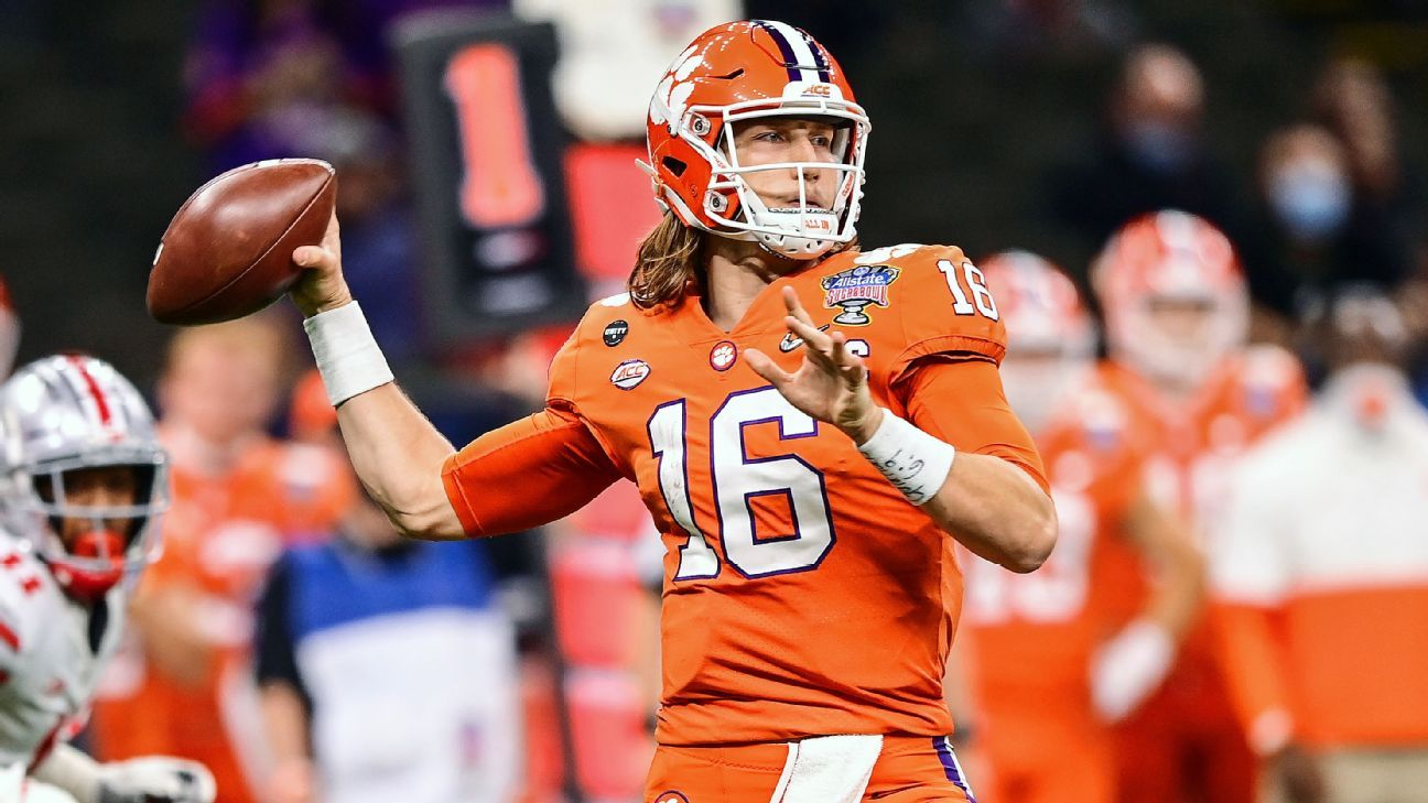 Clemson Tigers QB Trevor Lawrence, likely No. 1 overall ...