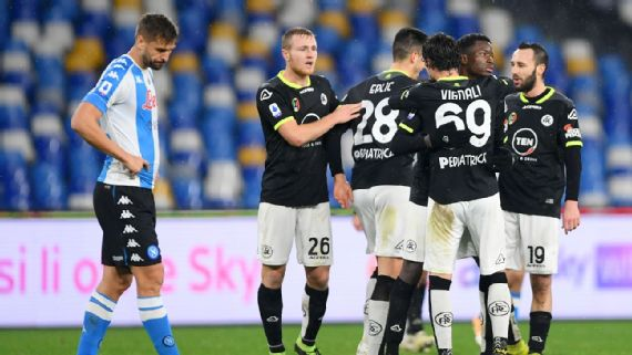 Napoli Vs Spezia Football Match Report January 6 2021 Espn