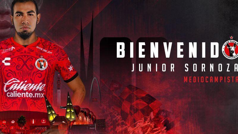 Junior Sornoza es nuevo jugador de Tijuana