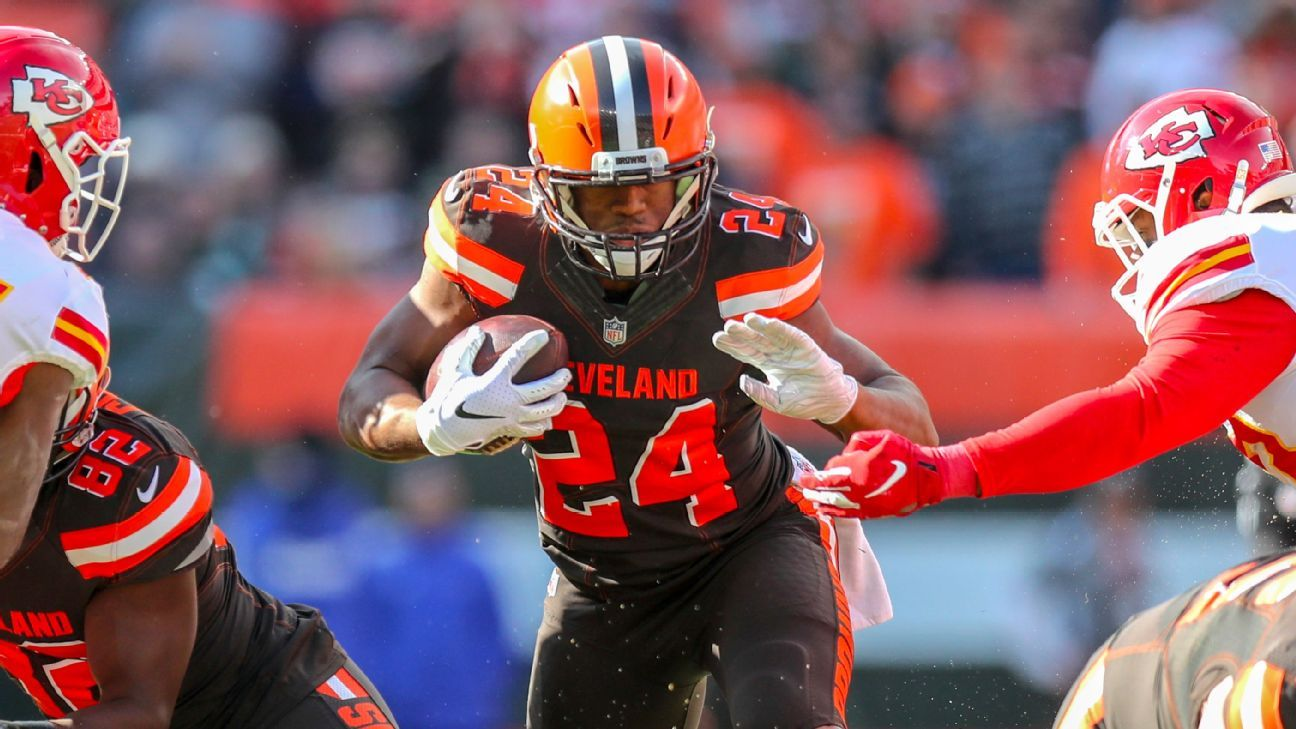 Cleveland Browns RB Nick Chubb ruled out because of calf injury