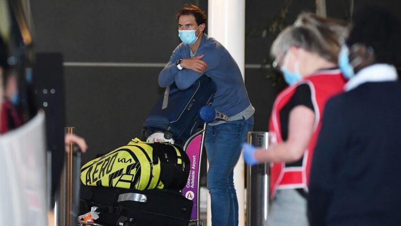 ¡Hace frío! El mensaje de Rafael Nadal desde el hotel en Australia - ESPN