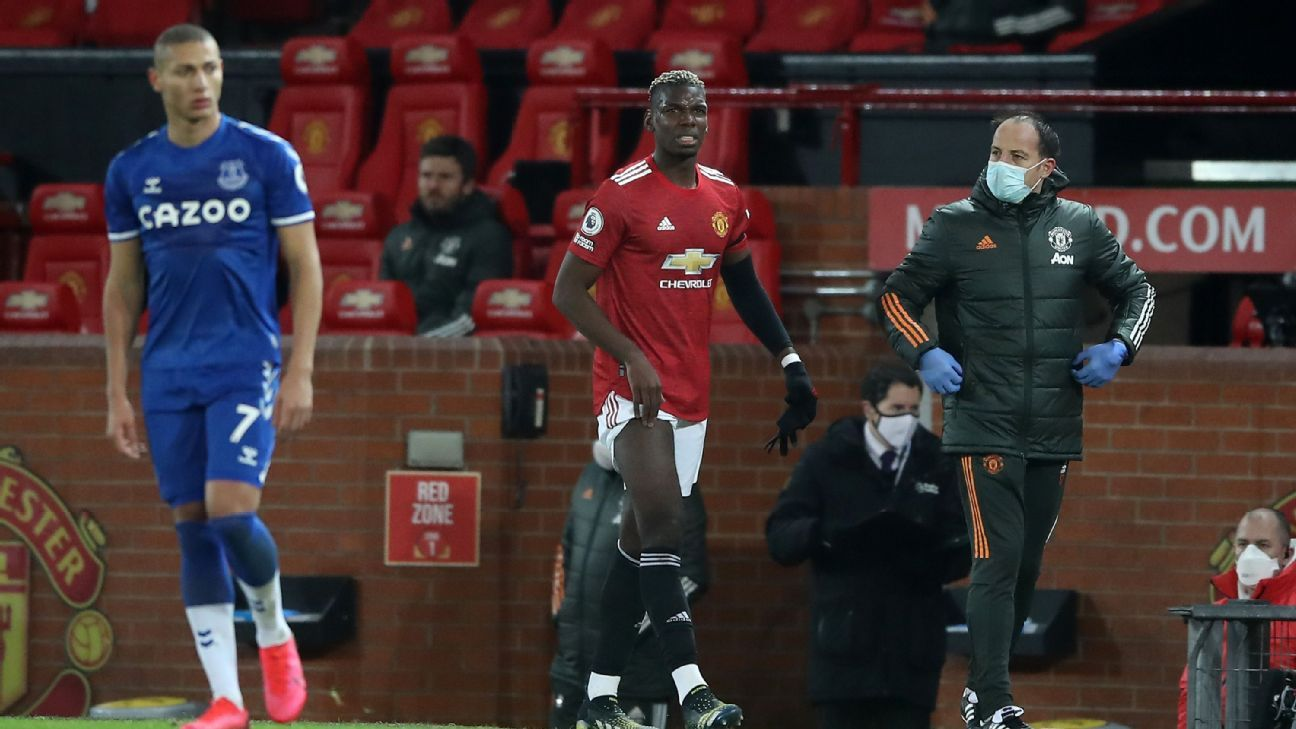 Man United's Pogba ruled out for 'few weeks' with thigh injury - ESPN India