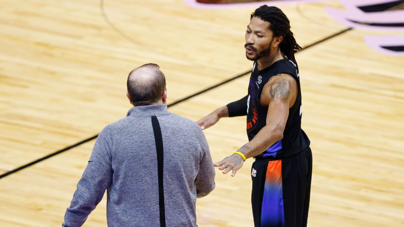 New York Knicks' Derrick Rose says he has 'synergy' with coach Tom Thibodeau - ESPN