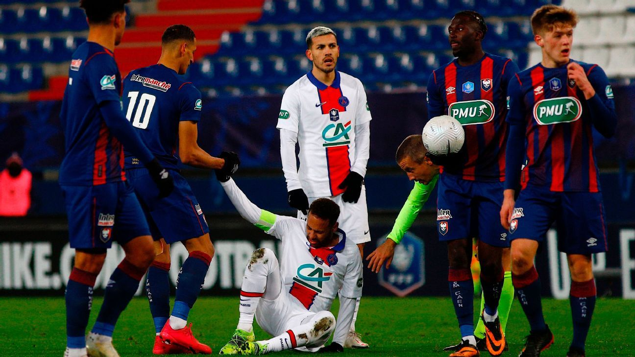 PSG's Neymar to miss Champions League clash with Barcelona