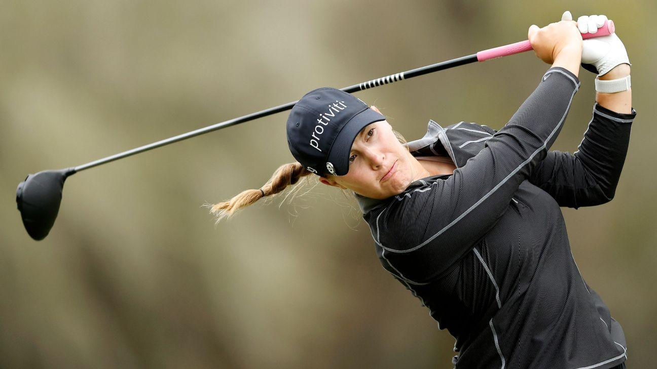 Jennifer Kupcho eagles 18th to cut Austin Ernst's LPGA Tour lead to a stroke - ESPN