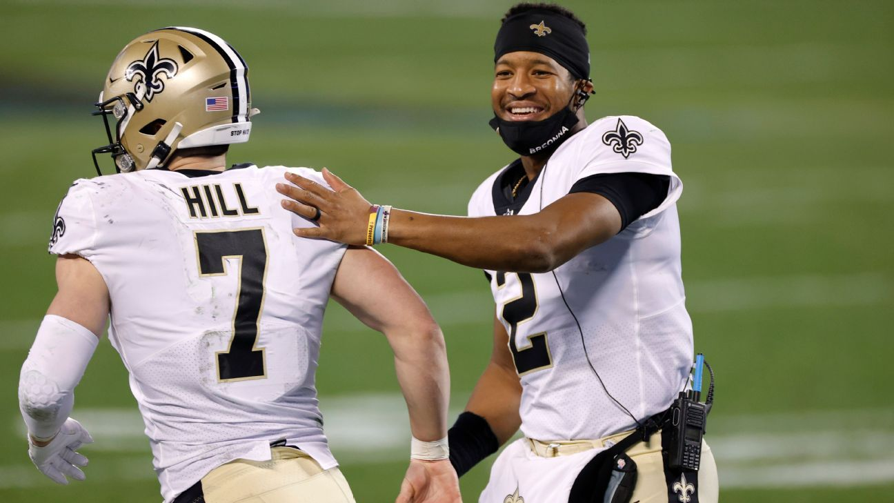 Jameis Winston's deal with Saints cements him and Taysom Hill as favorites  to replace Drew Brees - New Orleans Saints Blog- ESPN