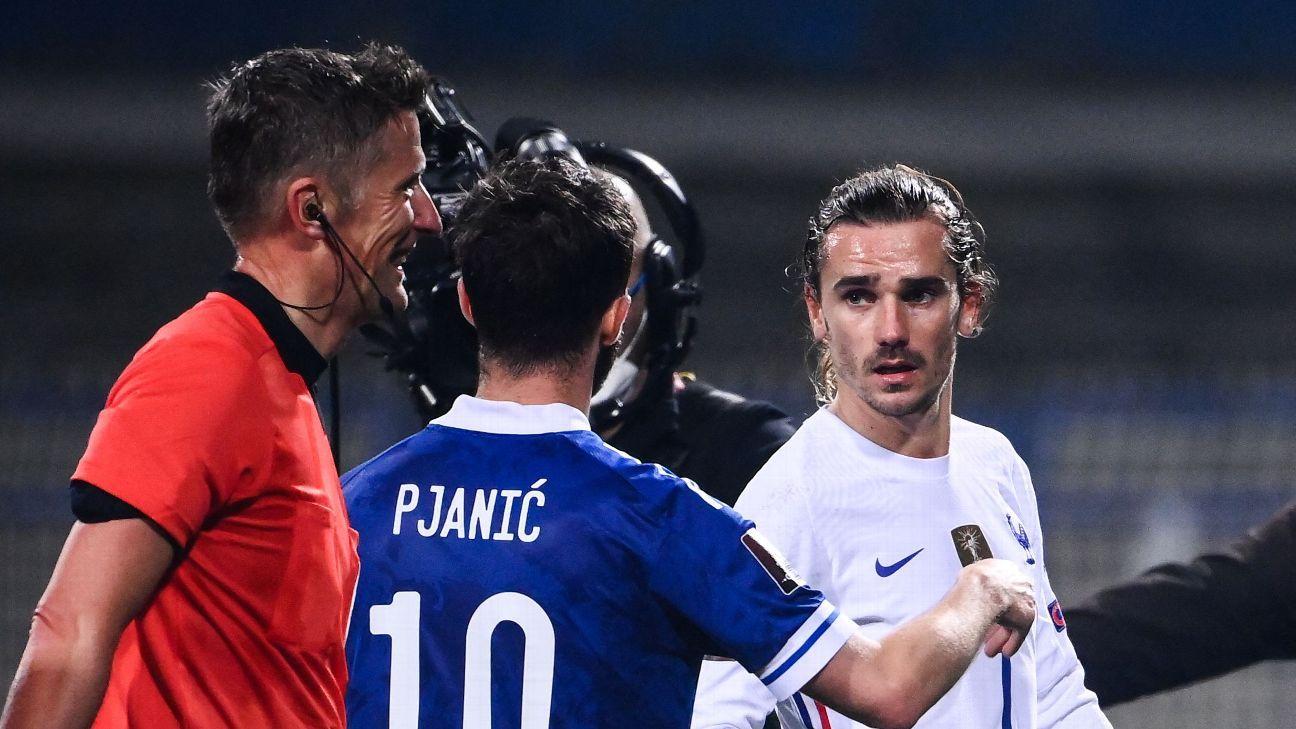 Bosnia and Herzegovina vs. France - Football Match Report - March 31, 2021 - ESPN
