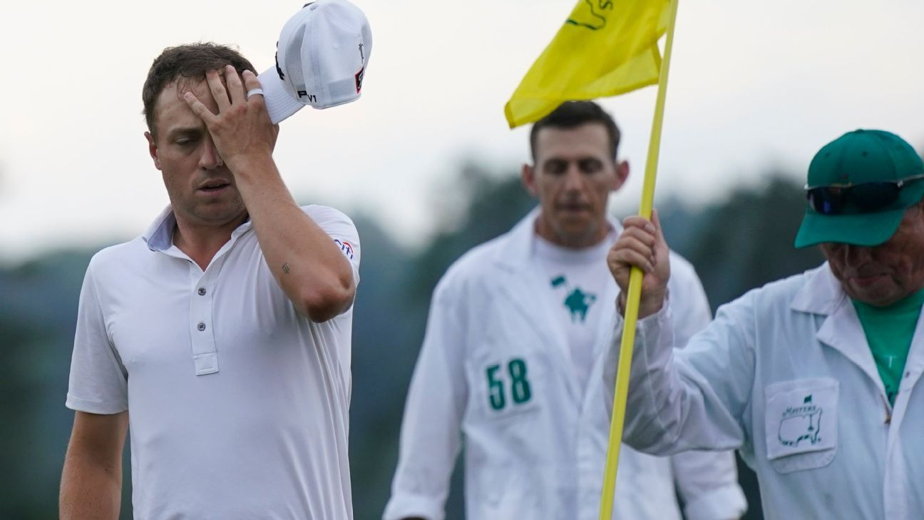 Thomas implodes after delay, 10 back in Masters