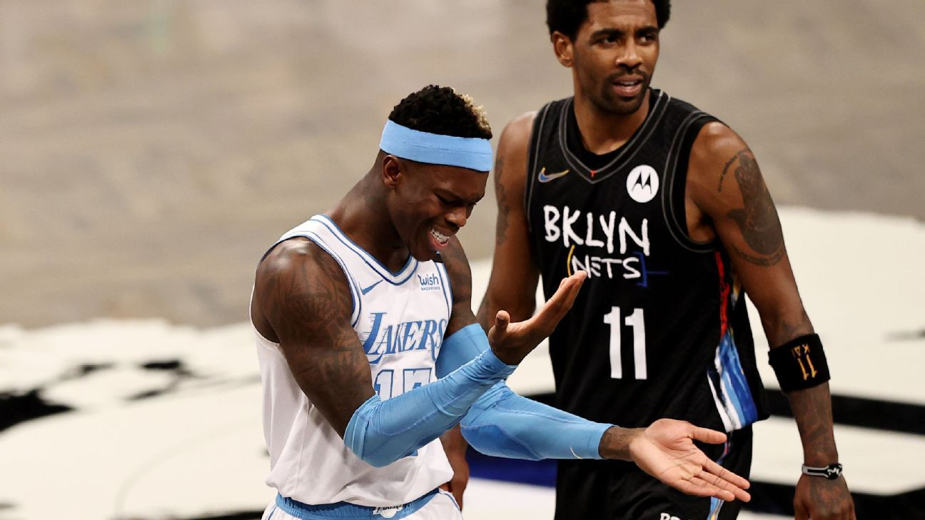 Depleted Lakers earn 'best win of year' vs. Nets