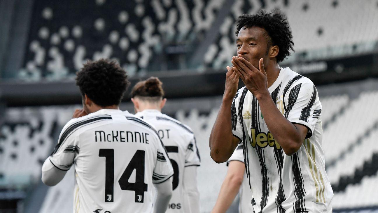 Cuadrado marcó doblete en la victoria de Juventus en el clásico frente a Inter