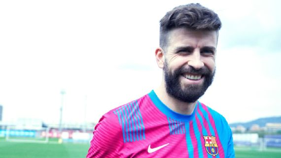 Barcelona Unveil New 2021 22 Home Kit Complete With Half And Half Shorts