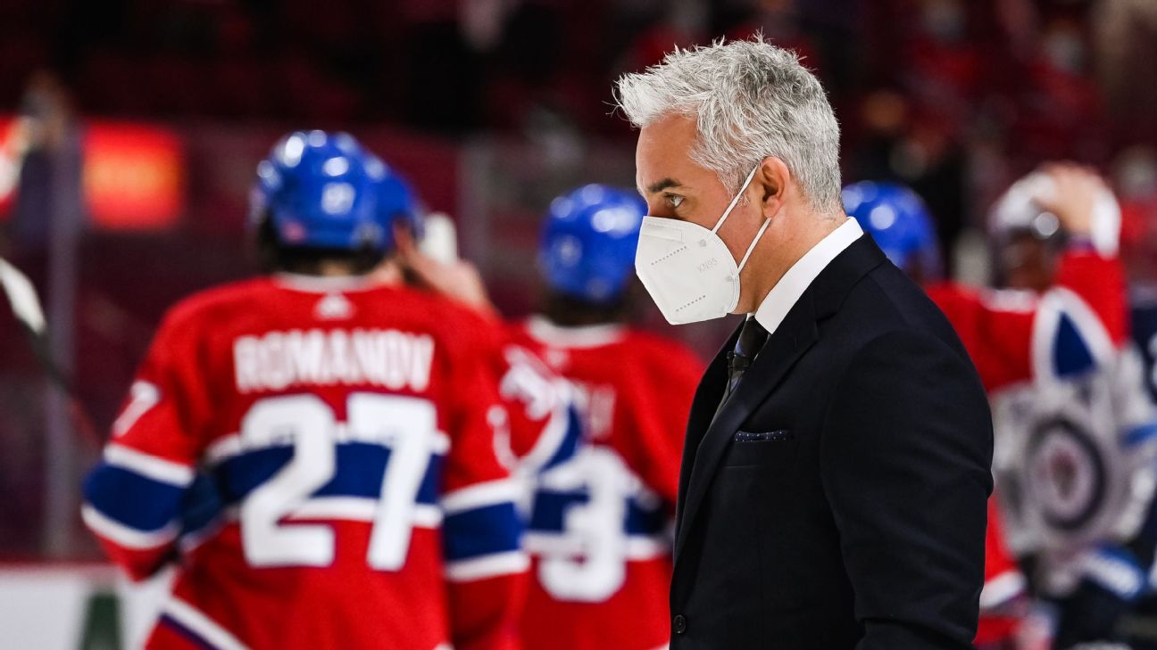 Montreal Canadiens coach Dominique Ducharme symptom-free, hopes to return in days