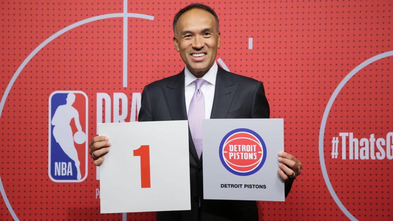 NBA draft lottery 2021 – Social media reacts as Detroit Pistons land No. 1 overall pick – ESPN