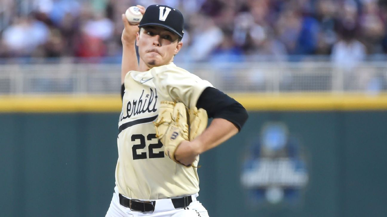 College World Series 2021 -- Jack Leiter's pitching and an offensive breakout lead Vandy to big CWS win